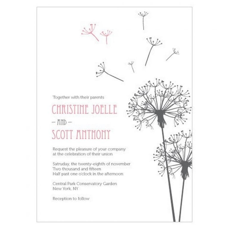 Dandelion Wishes Invitation | As low as $2.28 each