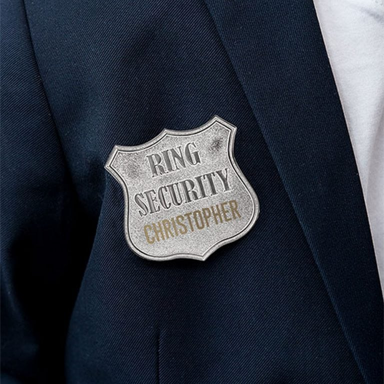 Ring Security Badge | $19 - Personalization Fee $6.95