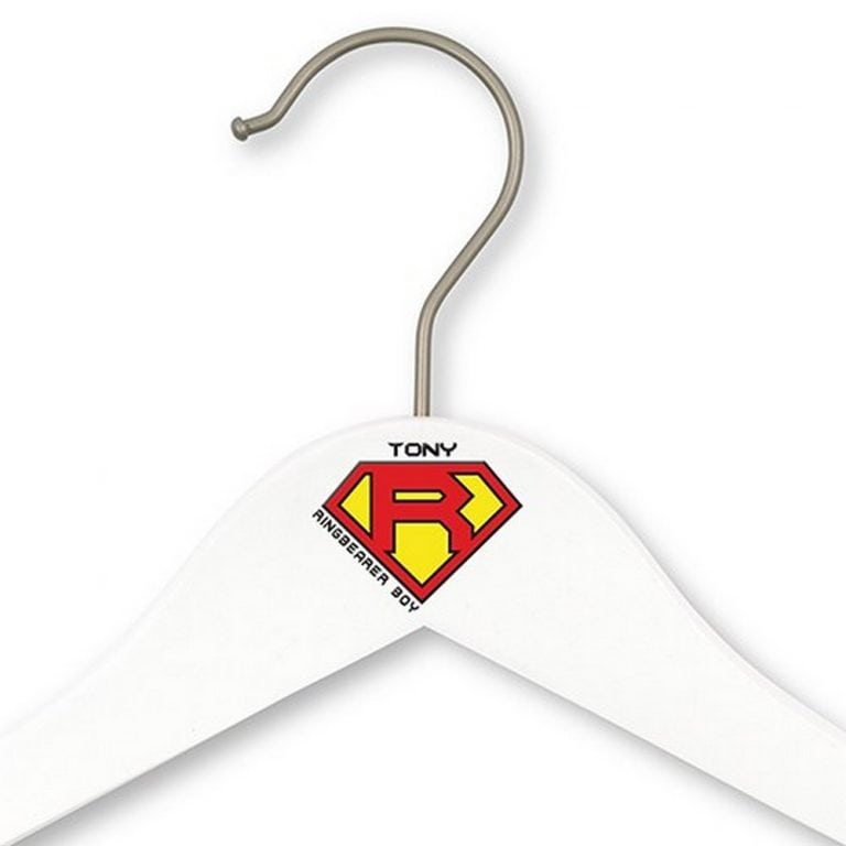 Personalized Super Hear Ring Bearer Hanger | $12.50 - Personalization Fee $6.95
