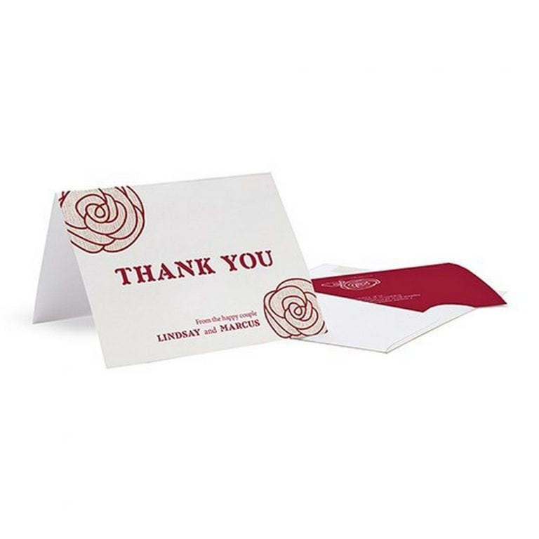 Rose Thank You Card | As low as $0.74 each