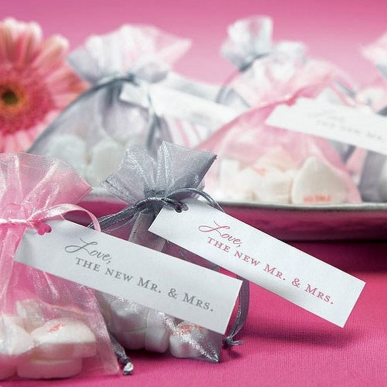 """Love, The New Mr. & Mrs."" Favour tags 