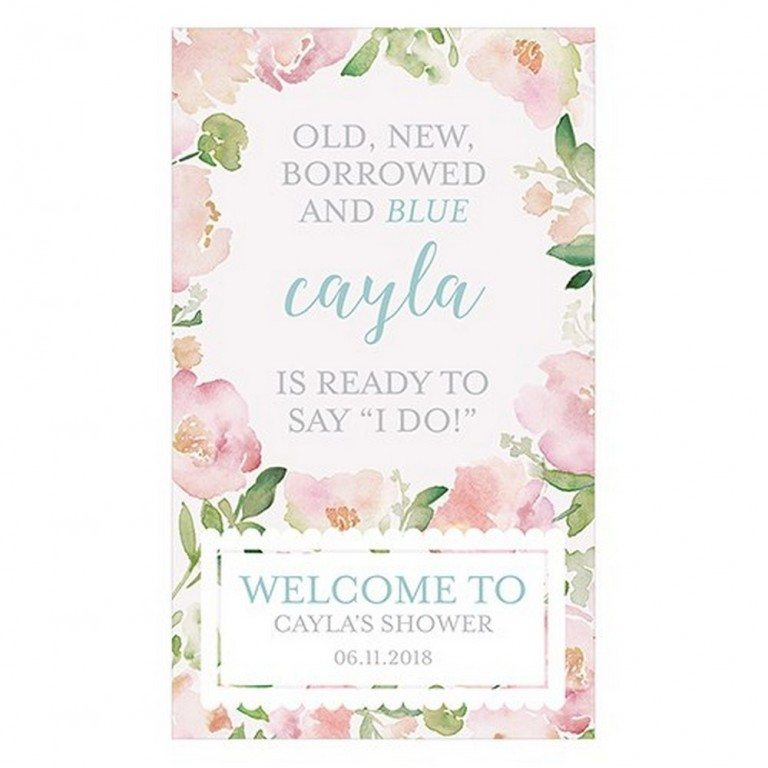 Garden Party Personalized Welcome Sign