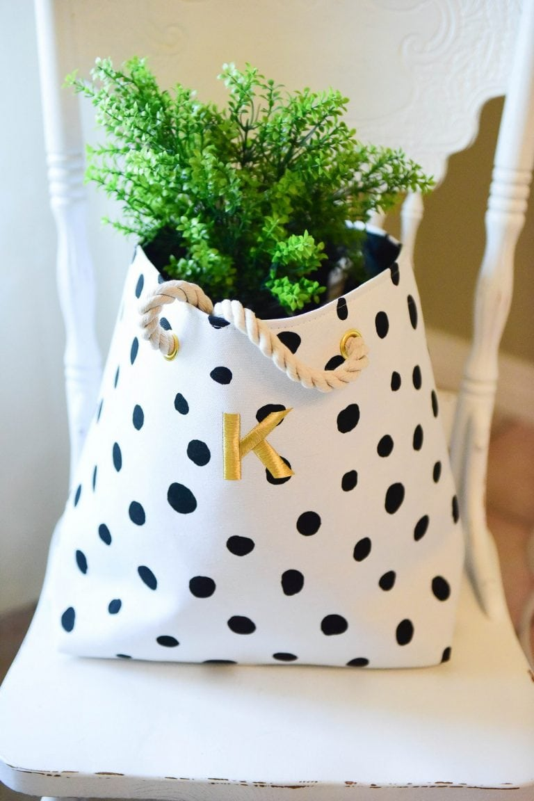 Canvas Tote Bag: $38 + $7 to personalize