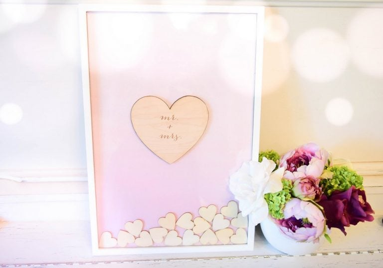 Drop Box Guest Book With Hearts: $60