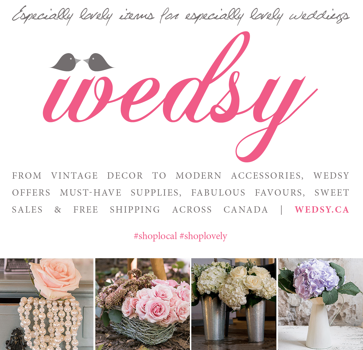Wedsy.ca Show Specials - On Sale Now