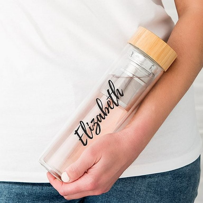 Glass Tea Infuser Travel Cup | $29 + $6.95 Personalization fee
