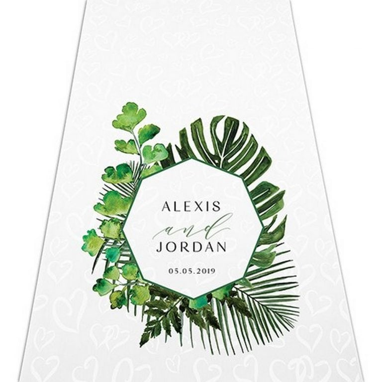 Greenery Personalized Aisle Runner | $125