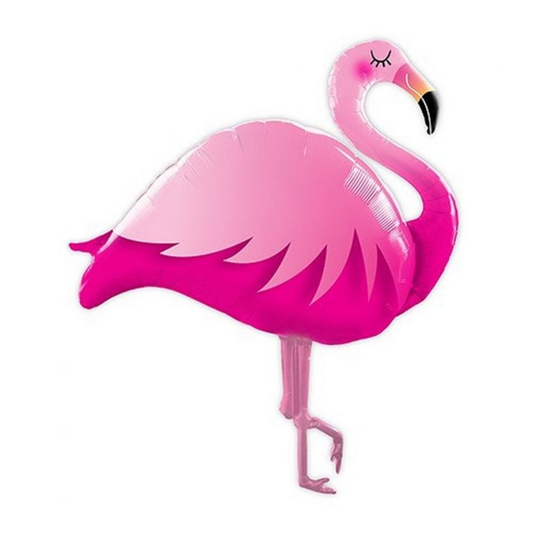 Giant Pink Flamingo Foil Helium Party Balloon | $12