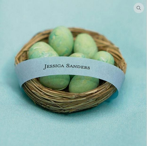 Birds Nests Favours from Wedsy (just add chocolate eggs!)