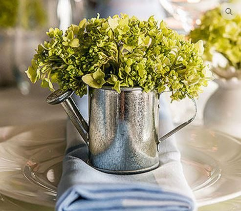 Tin Watering Can Wedding Favours/Decor Elements from Wedsy