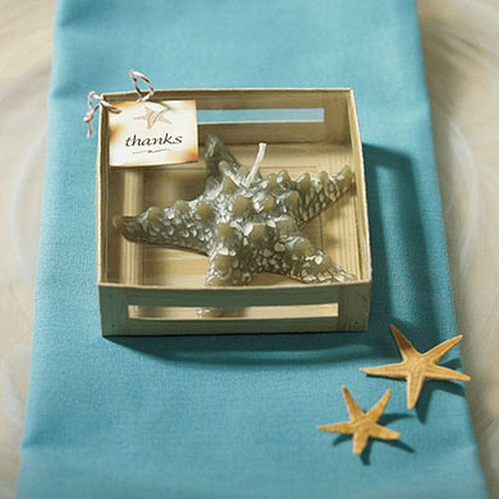 Miniature Starfish Candle In Gift Packaging Favour