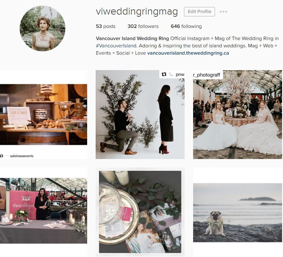 Vancouver Island Weddings on Instagram!