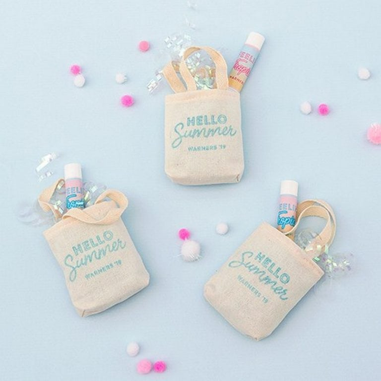 Tiny Tote Cotton Favor Bag | $8.60 for pkg of 10